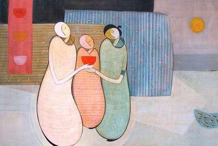Family | Painting by artist Dattatraya Thombare | acrylic | Canvas