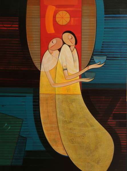 Inner Love | Painting by artist Dattatraya Thombare | acrylic | Canvas