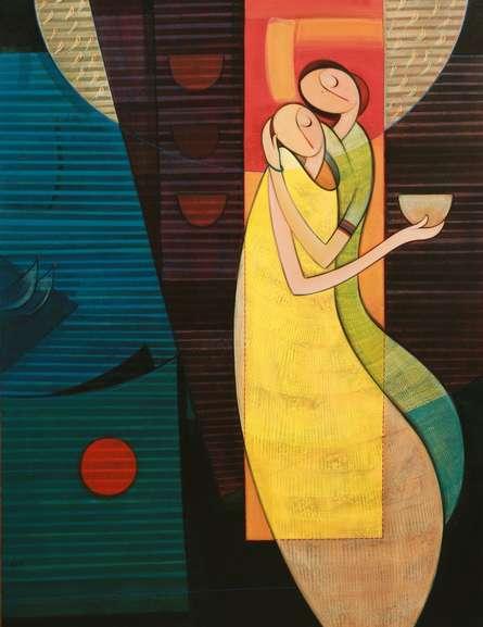 Journey | Painting by artist Dattatraya Thombare | acrylic | Canvas