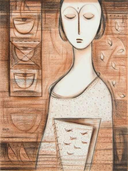 Journey III | Painting by artist Dattatraya Thombare | acrylic | Canvas
