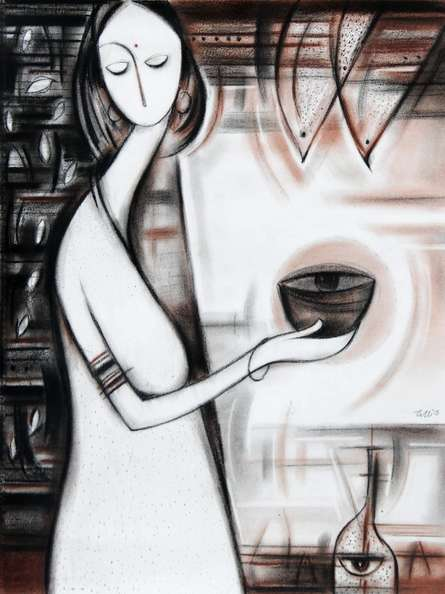 Journey IV | Painting by artist Dattatraya Thombare | acrylic | Canvas