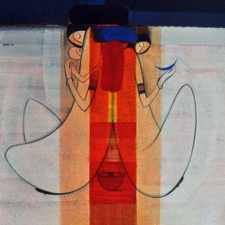Reflection | Painting by artist Dattatraya Thombare | acrylic | Canvas