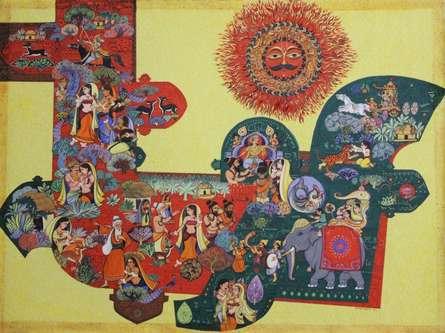 Abhijnanasakuntalam | Painting by artist Satish Chavhan | watercolor | Paper