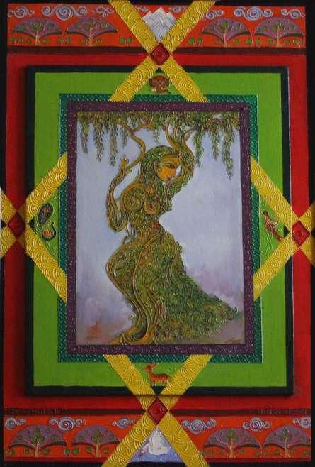 Latika   Painting by artist Satish Chavhan   oil   Canvas Board