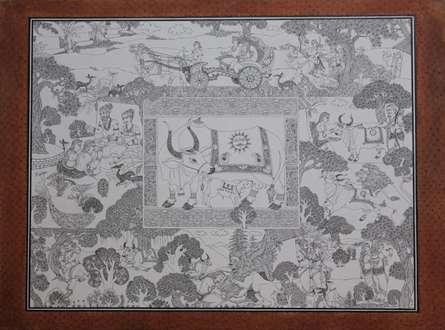 Raghuvansham - 2 | Painting by artist Satish Chavhan | watercolor | Paper