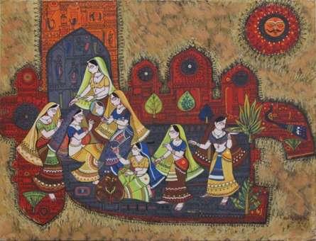 Shringaar - 1 | Painting by artist Satish Chavhan | watercolor | Paper