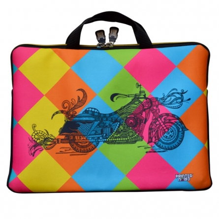 Sejal M | Bike Laptop Sleeve Craft Craft by artist Sejal M | Indian Handicraft | ArtZolo.com