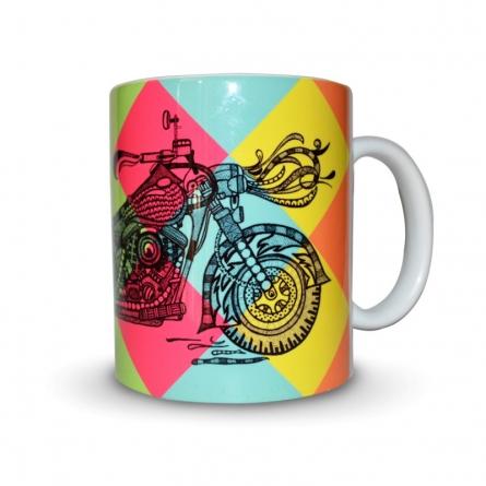 Bike Print Mug | Craft by artist Sejal M | Ceramic
