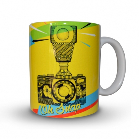 Camera Print Mug | Craft by artist Sejal M | Ceramic