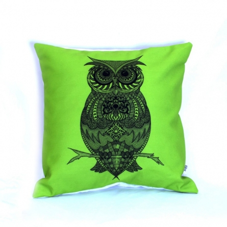 Designer Owl Cushion | Craft by artist Sejal M | Canvas