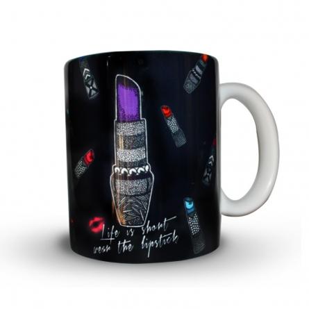 Lipstick Print Mug | Craft by artist Sejal M | Ceramic