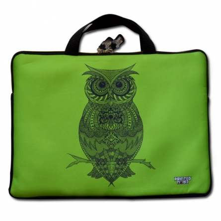 Owl Laptop Sleeve | Craft by artist Sejal M | Neoprene