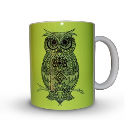 Sejal M | Owl Coffee Mug Craft Craft by artist Sejal M | Indian Handicraft | ArtZolo.com