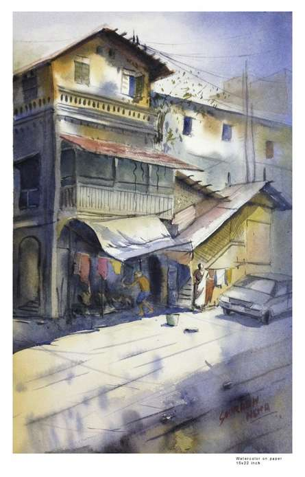 Khotachi wadi | Painting by artist Sourabh Nema | watercolor | Handmade Paper