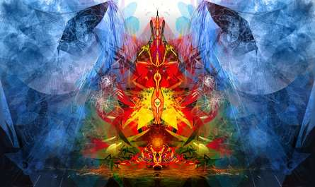 Shri Ganesha Abstract 03 | Digital_art by artist Pradip Shinde | Art print on Canvas