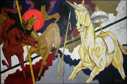 Ashwamedha | Painting by artist Chinmaya BR | acrylic | Canvas