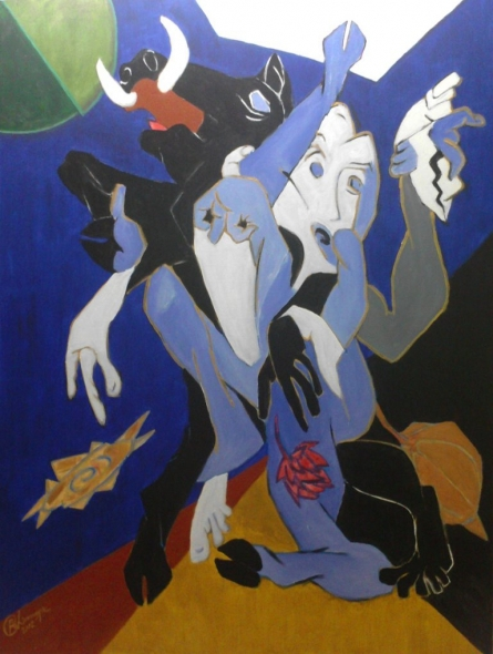 Avatar Series-varahi | Painting by artist Chinmaya BR | acrylic | Canvas