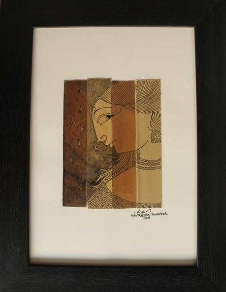sita | Drawing by artist Manikandan Punnakkal | | ink | Leaf