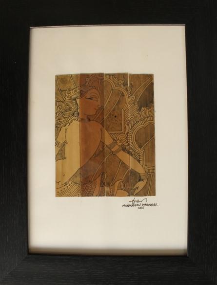 Figurative Ink Art Drawing title 'SriRama' by artist Manikandan Punnakkal