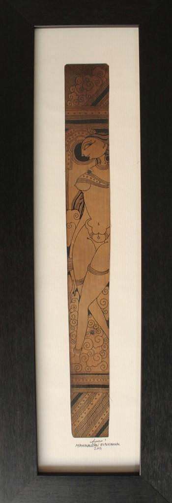 Figurative Ink Art Drawing title 124 by artist Manikandan Punnakkal