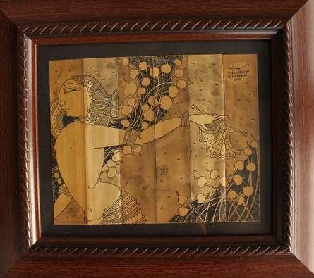 veeshari | Drawing by artist Manikandan Punnakkal |  | ink | Leaf