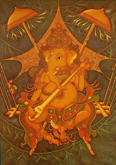 Ganesha   Painting by artist Manikandan Punnakkal   acrylic   Canvas