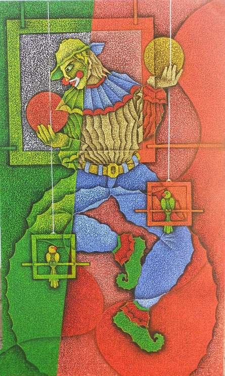 Joker | Painting by artist Satyajeet Shinde | acrylic | Canvas