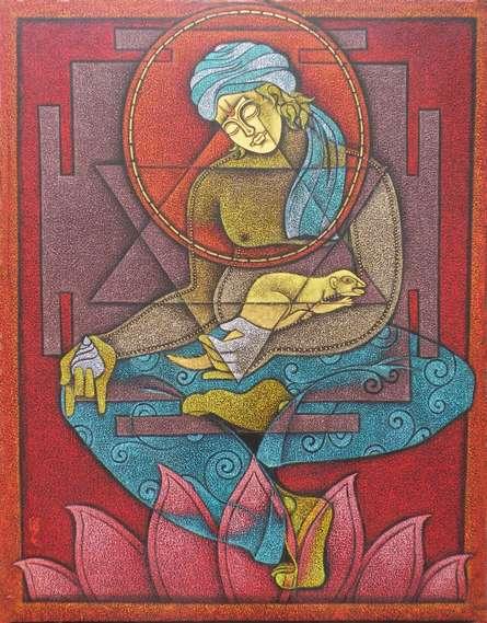 Kuber | Painting by artist Satyajeet Shinde | acrylic | Canvas