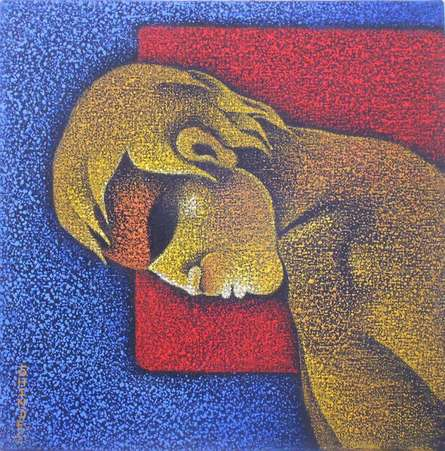 Man I | Painting by artist Satyajeet Shinde | acrylic | Canvas