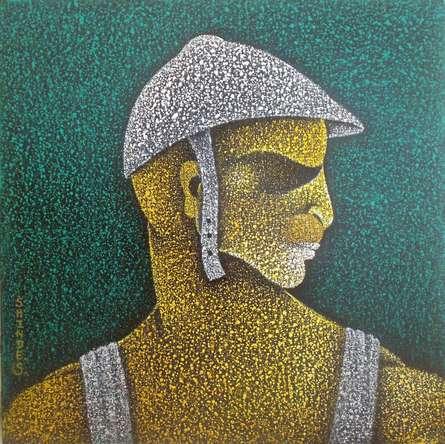 Figurative Acrylic Art Painting title 'Man Ii' by artist Satyajeet Shinde