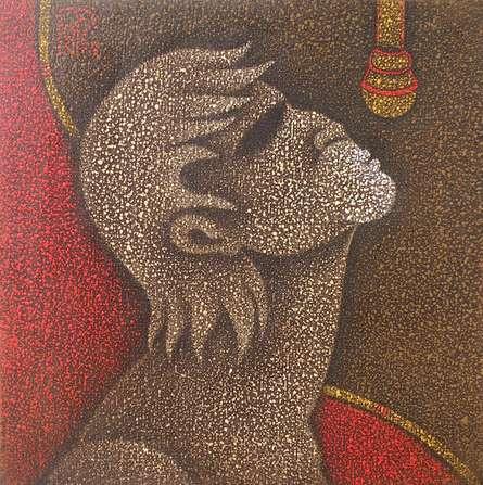 Singer I   Painting by artist Satyajeet Shinde   acrylic   Canvas