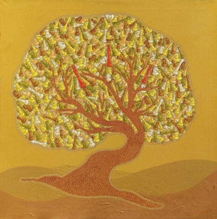 Nature Acrylic Art Painting title The Making Tree 1 by artist Satyajeet Shinde