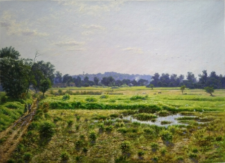 Aare Mumbai | Painting by artist Sanjay Sarfare | oil | Canvas