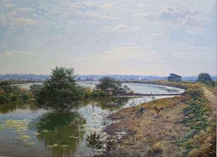Mangrov-saltwater   Painting by artist Sanjay Sarfare   oil   Canvas
