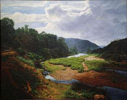 Realistic Oil Art Painting title 'My Konkan' by artist Sanjay Sarfare