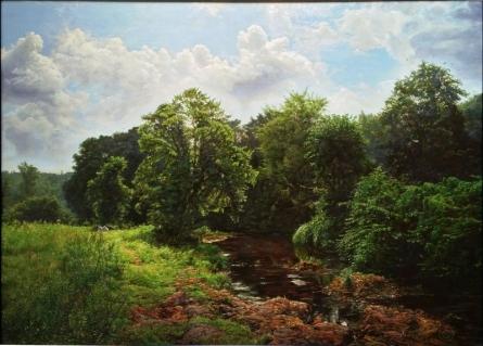 My Village Stream | Painting by artist Sanjay Sarfare | oil | Canvas