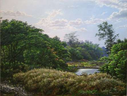 Sanjay Sarfare Paintings | Oil Painting - National park1 by artist Sanjay Sarfare | ArtZolo.com
