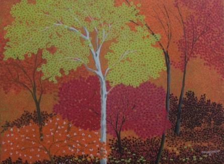 Shuvankar Maitra   Acrylic Painting title Morning 1 on Canvas   Artist Shuvankar Maitra Gallery   ArtZolo.com