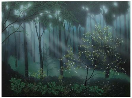 Morning Lights   Painting by artist Shuvankar Maitra   acrylic   Canvas