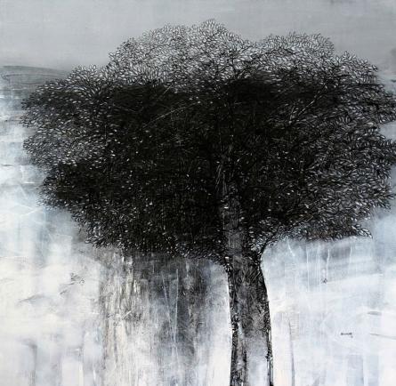 Landscape Acrylic Art Painting title Untitled by artist Bhaskar Rao