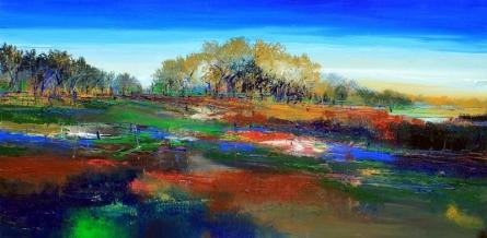 Nature 10 | Painting by artist Bhaskar Rao | acrylic | Canvas