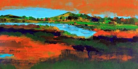 Nature 12 | Painting by artist Bhaskar Rao | acrylic | Canvas