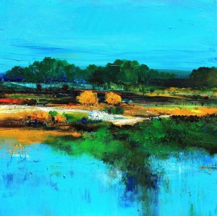 Nature 13 | Painting by artist Bhaskar Rao | acrylic | Canvas