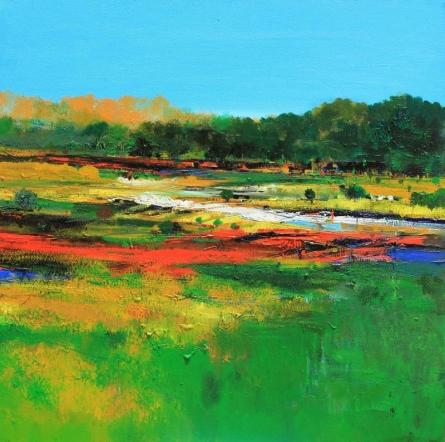 Nature 14 | Painting by artist Bhaskar Rao | acrylic | Canvas