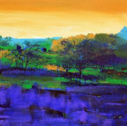 Nature 15 | Painting by artist Bhaskar Rao | acrylic | Canvas
