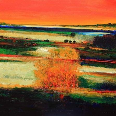 Nature 17 | Painting by artist Bhaskar Rao | acrylic | Canvas
