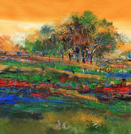 Nature 21   Painting by artist Bhaskar Rao   acrylic   Canvas