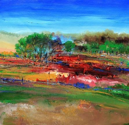 Nature 23 | Painting by artist Bhaskar Rao | acrylic | Canvas