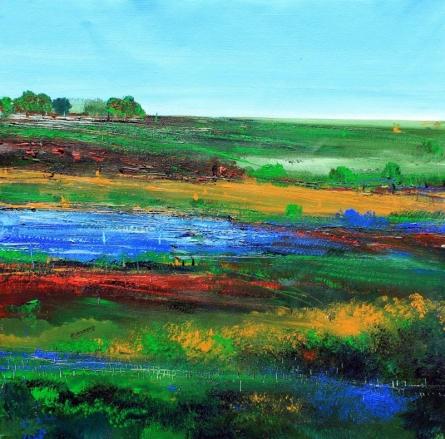 Nature 24   Painting by artist Bhaskar Rao   acrylic   Canvas