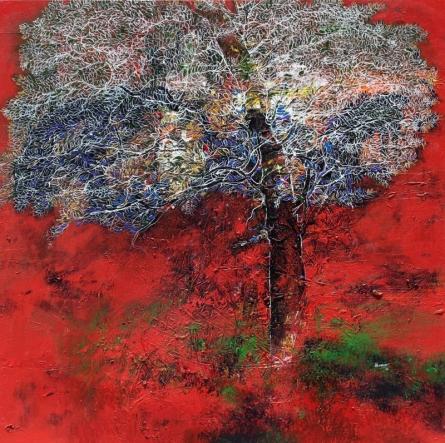 Untitled | Painting by artist Bhaskar Rao | acrylic | Canvas